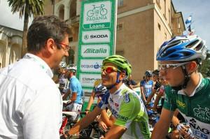 Ivan Basso e Sasha Modolo con Michelino Davico