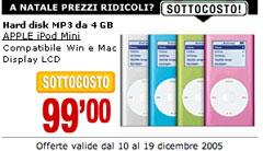 La promozione iPod sul sito di MediaWorld
