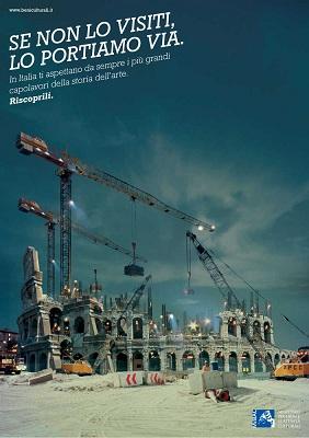 Una delle immagini della campagna del Ministerto per i Beni e le Attività Culturali