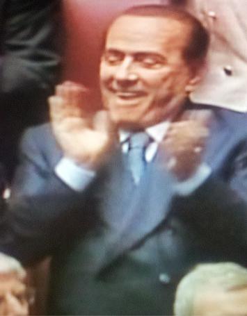 Silvio Berlusconi festeggia la rielezione di Giorgio Napolitano come Presidente della Repubblica