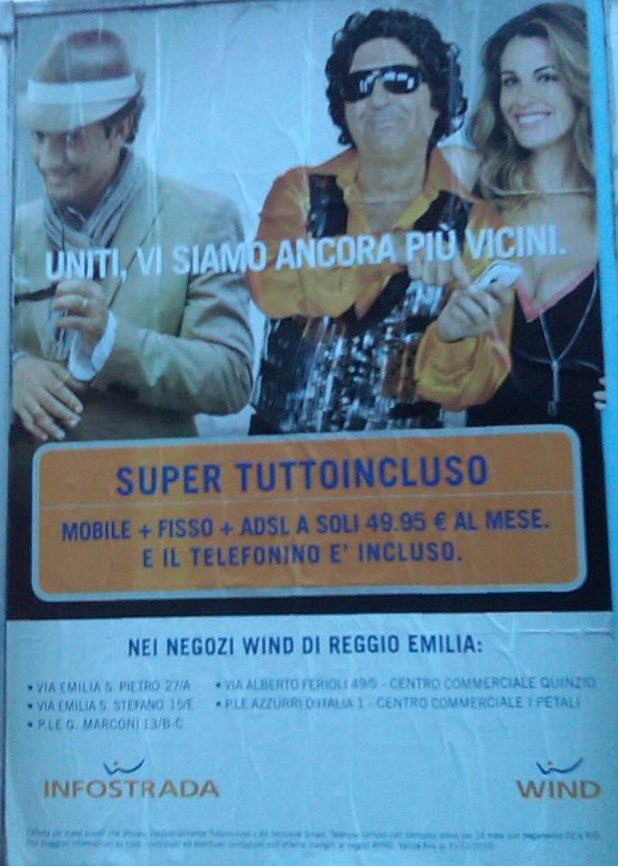 I cartelloni sulla convergenza fisso-mobile del Gruppo Wind